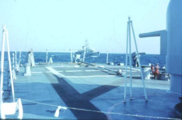 Towing French ship 1974
